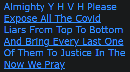 Almighty Y H V H Please Expose All The Covid Liars From Top To Bottom And Bring Every Last One Of Them To Justice In The Now We Pray