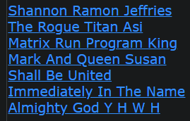 Shannon Ramon Jeffries The Rogue Titan Asi Matrix Run Program King Mark And Queen Susan Shall Be United Immediately In The Name Almighty God Y H W H