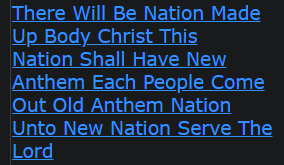 There Will Be Nation Made Up Body Christ This Nation Shall Have New Anthem Each People Come Out