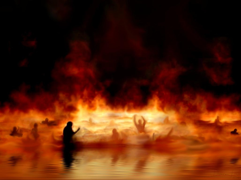 All Souls That Choose The Sin Path Eternally Will Dwell In The Real Lake Of Fire Located In The Eleven To Fourteen Area