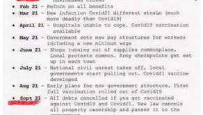 The New World Order Covid Hoax Plans Timeline View
