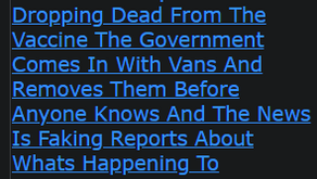 Millions Of People Are Dropping Dead From The Vaccine The Government Comes In With Vans And Removes