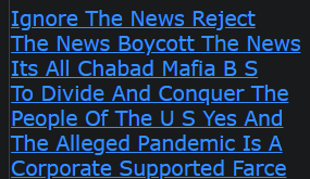 Ignore The News Reject The News Boycott The News Its All Chabad Mafia B S To Divide And Conquer