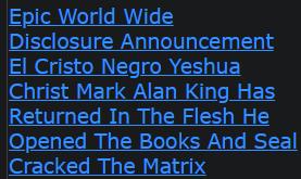 Epic World Wide Disclosure Announcement El Cristo Negro Yeshua Christ Mark Alan King Has Returned
