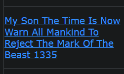 My Son The Time Is Now Warn All Mankind To Reject The Mark Of The Beast 1335 (vaccines are part of the mark of the beast system stay away from all poisonous vaccines)