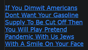 If You Dimwit Americans Dont Want Your Gasoline Supply To Be Cut Off Then You Will Play Pretend