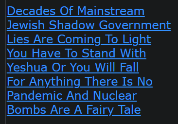 Decades Of Mainstream Jewish Shadow Government Lies Are Coming To Light You Have To Stand With Yeshua Or You Will Fall For Anything There Is No Pandemic And Nuclear Bombs Are A Fairy Tale