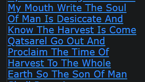 By The Two Edge Sword Of My Mouth Write The Soul Of Man Is Desiccate And Know The Harvest Is Come