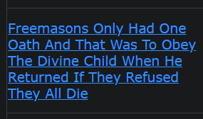 Freemasons Only Had One Oath And That Was To Obey The Divine Child When He Returned If They Refused They All Die