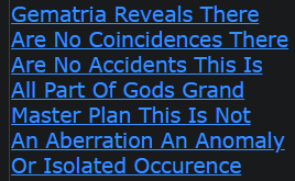 Gematria Reveals There Are No Coincidences There Are No Accidents This Is All Part Of Gods Plans