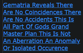 Gematria Reveals There Are No Coincidences There Are No Accidents This Is All Part Of Gods Grand Master Plan This Is Not An Aberration An Anomaly Or Isolated Occurrence