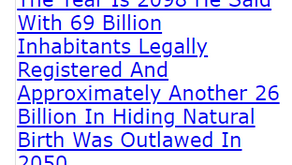 The Year Is 2098 He Said With 69 Billion Inhabitants Legally Registered And Approximately Another
