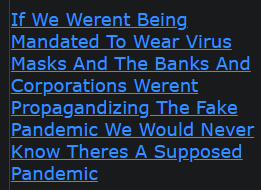 If We Werent Being Mandated To Wear Virus Masks And The Banks And Corporations Werent Propagandizing The Fake Pandemic We Would Never Know Theres A Supposed Pandemic