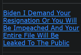 Biden I Demand Your Resignation Or You Will Be Impeached And Your Entire File Will Be Leaked To The Public