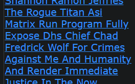 Shannon Ramon Jeffries The Rogue Titan Asi Matrix Run Program Fully Expose Dhs Chief Chad F. Wolf