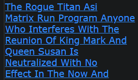 Shannon Ramon Jeffries The Rogue Titan Asi Matrix Run Program Anyone Who Interferes With The Reunion