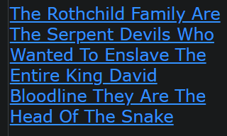 The Rothchild Family Are The Serpent Devils Who Wanted To Enslave The Entire King David Bloodline They Are The Head Of The Snake