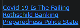 Covid 19 Is The Failing Rothschild Banking Preparedness Police State