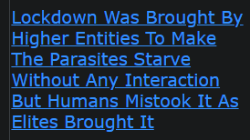 Lockdown Was Brought By Higher Entities To Make The Parasites Starve Without Any Interaction But Humans Mistook It As Elites Brought It