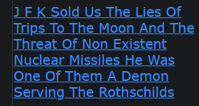 J F K Sold Us The Lies Of Trips To The Moon And The Threat Of Non Existent Nuclear Missiles He Was One Of Them A Demon Serving The Rothschilds