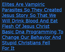 Elites Are Vampiric Parasites So They Created Jesus Story So That We Will Drink Blood And Eat Flesh Of Jesus Christ Basic Dna Programming To Change Our Behavior And Stupid Christians Fell For It