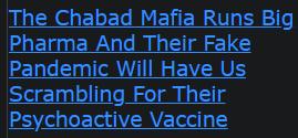 The Chabad Mafia Runs Big Pharma And Their Fake Pandemic Will Have Us Scrambling
