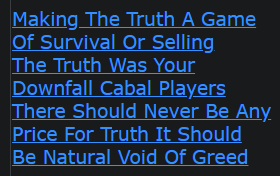 Making The Truth A Game Of Survival Or Selling The Truth Was Your Downfall Cabal Players There Should Never Be Any Price For Truth It Should Be Natural Void Of Greed