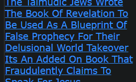 The Talmudic Jews Wrote The Book Of Revelation To Be Used As A Blueprint Of False Prophecy