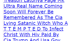 The Cia Lying Satanic Witch Who A T T E M P T E D To Infect Christ With Hiv Paid By Cia Trump