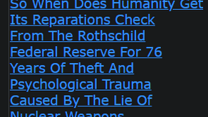 So When Does Humanity Get Its Reparations Check From The Rothschild Federal Reserve For 76 Years Of