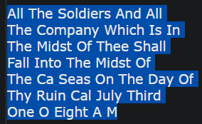 All The Soldiers And All The Company Which Is In The Midst Of Thee Shall Fall Into The Midst Of The Ca Seas On The Day Of Thy Ruin Cal July Third One O Eight A M