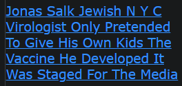Jonas Salk Jewish N Y C Virologist Only Pretended To Give His Own Kids The Vaccine He Developed It Was Staged For The Media (FAKE JEW GAVE A FAKE JAB)