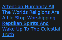 Attention Humanity All The Worlds Religions Are A Lie Stop Worshipping Reptilian Spirits And Wake Up