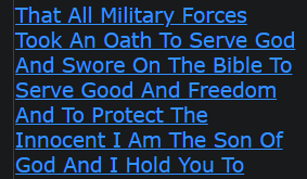 I Am El And I Declare That All Military Forces Took An Oath To Serve God And Swore On The Bible