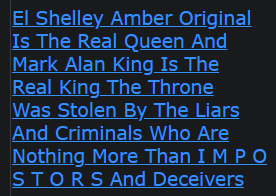 El Shelley Amber original is the real Queen and Mark Alan King is the real King  - The throne was stolen by the liars and criminals who are nothing more than IMPOSTORS and DECEVEIVERS