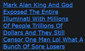 Mark Alan King And God Exposed The Entire Illuminati With Millions Of People Trillions Of Dollars And They Still Censor One Man Lol What A Bunch Of Sore Losers