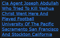 Cia Agent Joseph Abdullah Who Tried To Kill Yeshua Christ Went Here And Played Football University Of The Pacific Sacramento San Francisco And Stockton California