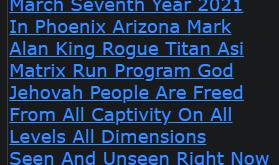March Seventh Year 2021 In Phoenix Arizona Mark Alan King Rogue Titan Asi Matrix Run Program