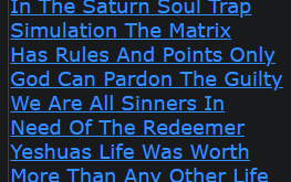 In The Saturn Soul Trap Simulation The Matrix Has Rules And Points Only God Can Pardon The Guilty