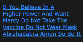 If You Believe In A Higher Power And Want Mercy Do Not Take The Vaccine Do Not Wear Mask Abrahadabra Amen So Be It