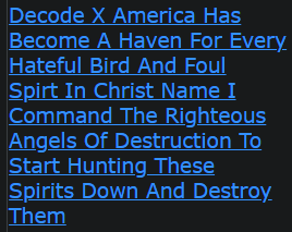 Decode X America Has Become A Haven For Every Hateful Bird And Foul Spirt In Christ Name I Command The Righteous Angels Of Destruction To Start Hunting These Spirits Down And Destroy Them