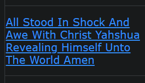 All Stood In Shock And Awe With Christ Yahshua Revealing Himself Unto The World Amen (we are close)