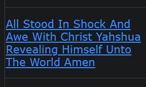 All Stood In Shock And Awe With Christ Yahshua Revealing Himself Unto The World Amen