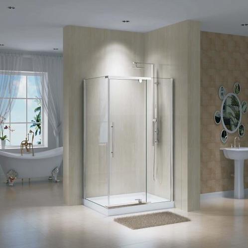 Pivot Double(48x36x75) Chrome Shower Doors