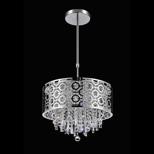 "9"" 3 Light Drum Shade Chandelier"