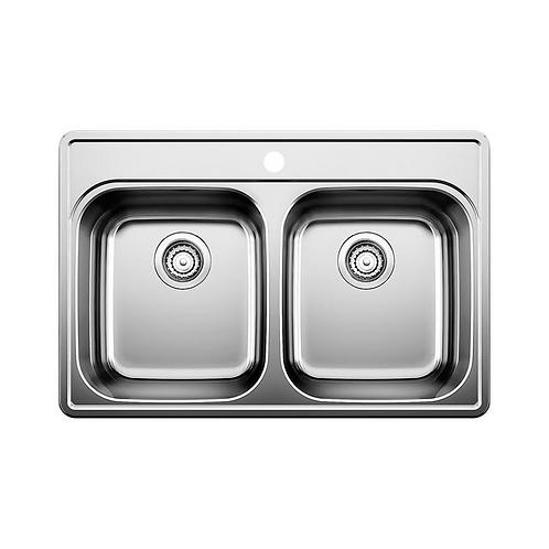 2 Drop-in Double Sink