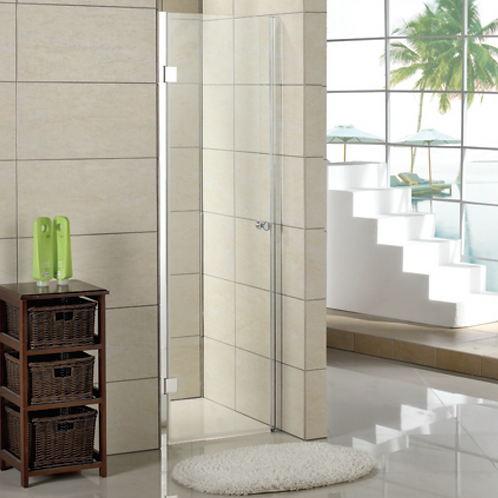 Pivot Brushed Nickel Shower Doors