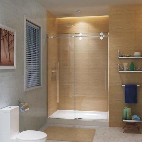Inline (45-47x79) Chrome Sliding Shower Doors