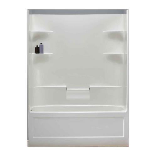4-Shelf Left Hand Drain Tub & Shower