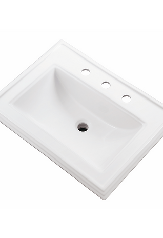 "Rectangular 8"" Centre Self-Rimming Bathroom Sink"